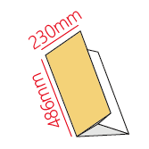 歐2K包二摺式點菜單製作
