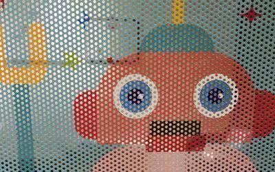 乳膠透視貼:俗稱洞洞貼,原理與隔熱紙相同,具有遮陽效果,可做為遮光貼,防窺貼,防曬貼使用。適用於建築物外牆玻璃、車窗。