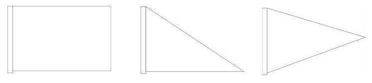 常见方形导游旗、领队旗尺寸与形状