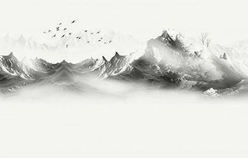 山 雲霧 08871