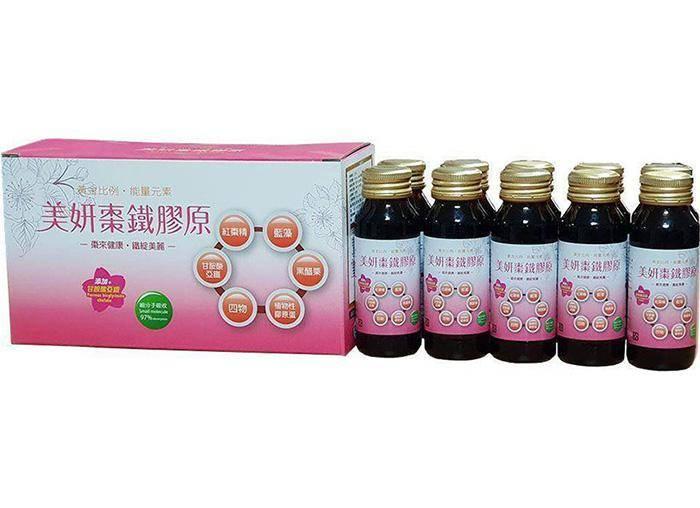 【晶準生技】美妍棗鐵膠原酵素 60ml/瓶 (10瓶/盒)
