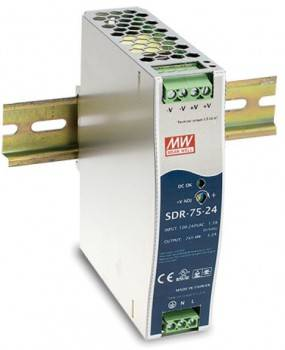 DIN Rail 軌道式電源供應器 75W/DC48V (SDR-75-48)