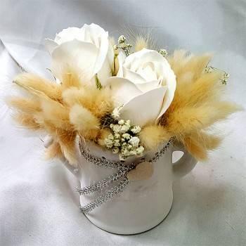《天天開心》玫瑰皂花乾燥花禮