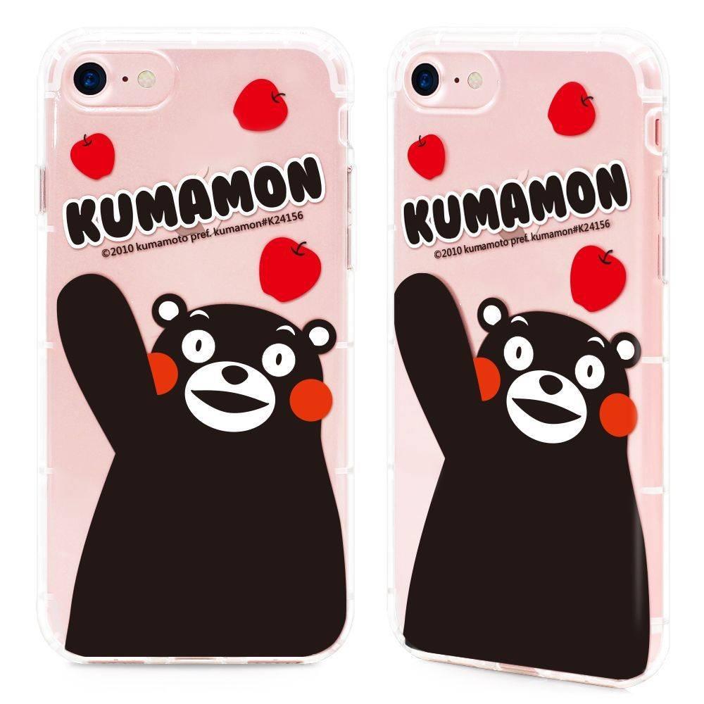 GARMMA Kumamon熊本熊 iPhone 7/8 Plus 5.5吋-空壓氣墊防摔保護軟殼-開心果