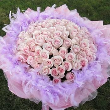 《永恆愛情》99朵鐵達尼玫瑰花束