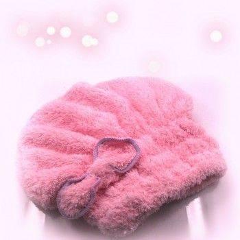 小物宅配-珊瑚絨快速乾髮帽/神奇乾髮帽/超強吸水頭巾/擦頭巾/包頭巾/蝴蝶結浴帽/護髮帽 Lohogo樂活趣