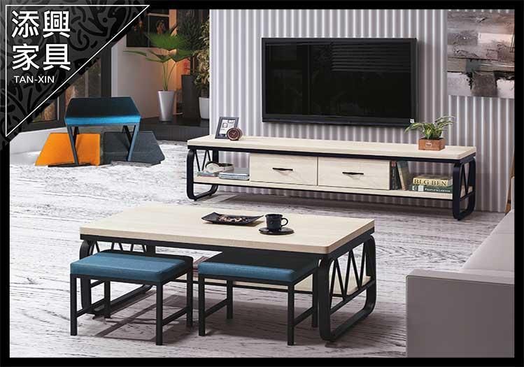 【長櫃】 【添興家具】 D102-7 白漂流木色4尺長櫃  大台北地區滿5千免運