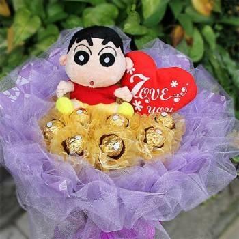《愛你94狂》小新玩偶金莎花束