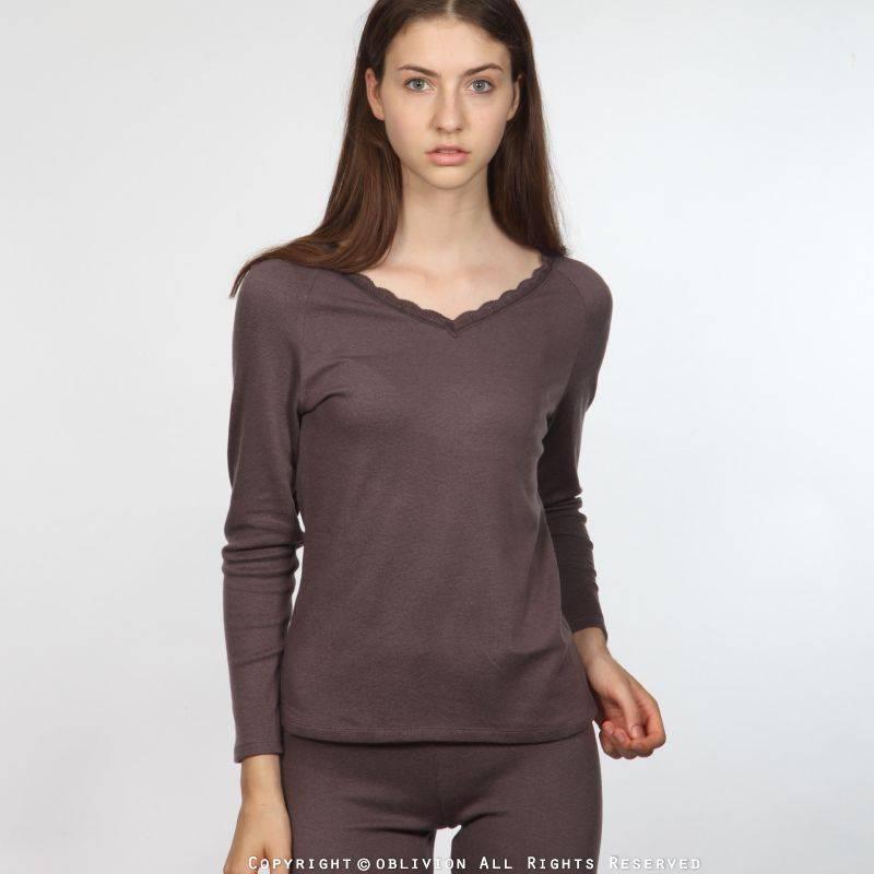 dralon 女舒適V領保暖衣