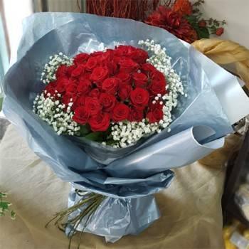 《愛情物語》韓風60朵紅玫瑰花束