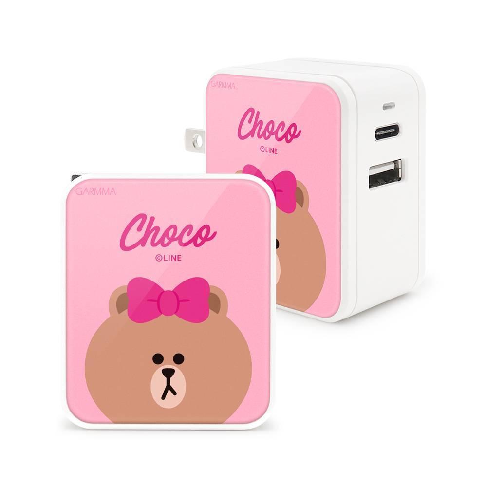 GARMMA LINE Friends Type-C & USB 雙孔充電器-熊美