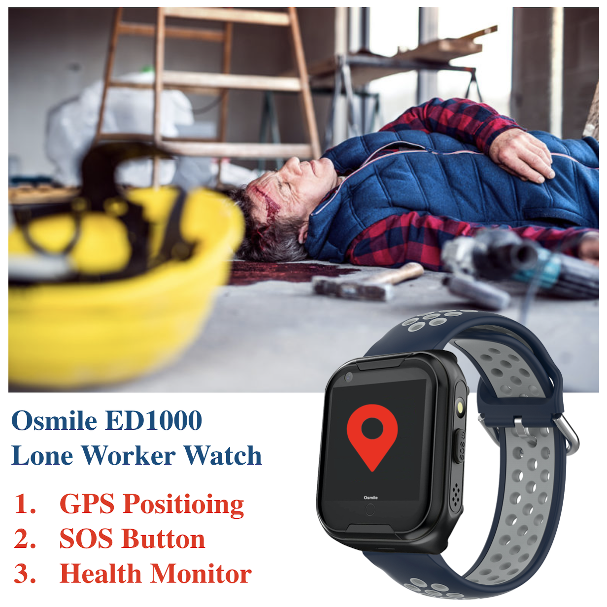 Osmile ED1000 SOS Alert for Security Management up to 50 lone worke1