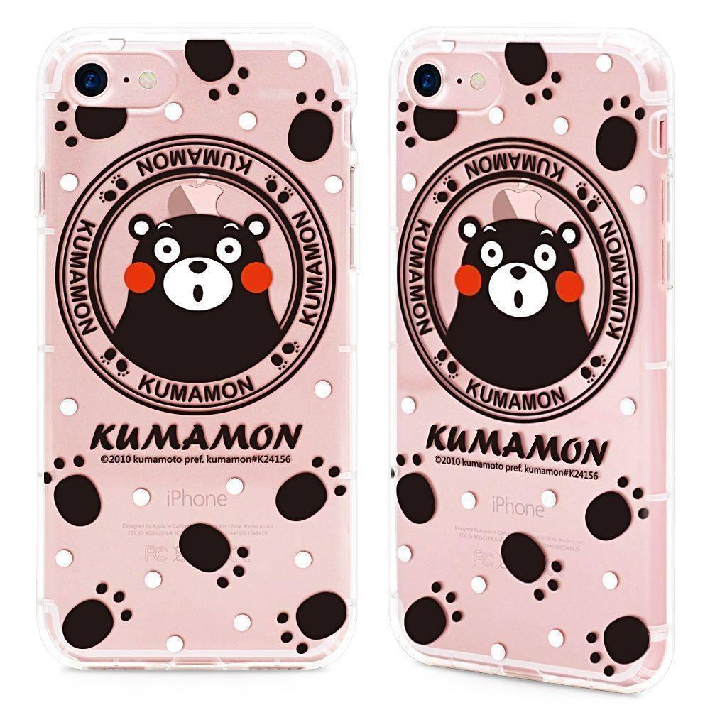 GARMMA Kumamon熊本熊 iPhone 7/8 Plus 5.5吋-空壓氣墊防摔保護軟殼-樂遊遊