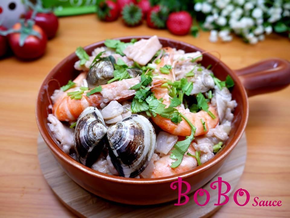 綠咖哩海鮮燉飯