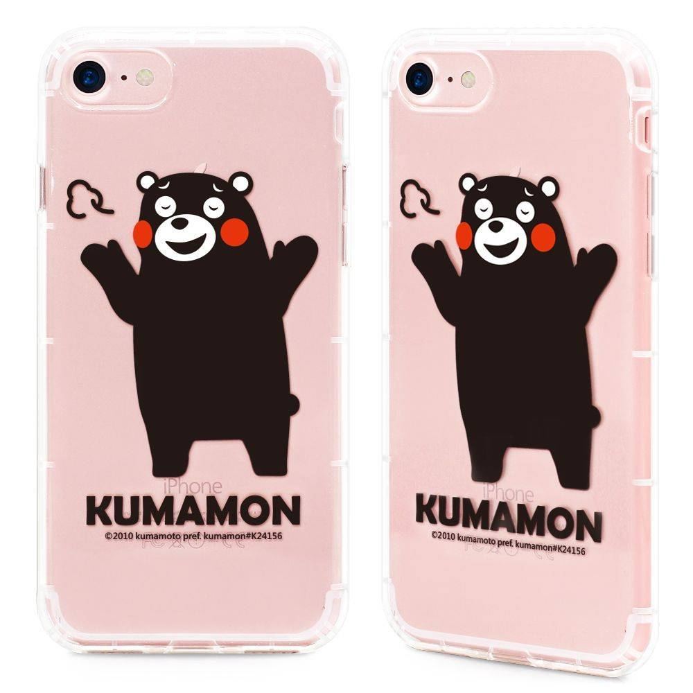 GARMMA Kumamon熊本熊 iPhone 7/8 Plus 5.5吋-空壓氣墊防摔保護軟殼-小調皮