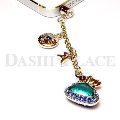 手機吊飾-銀藍-財寶-羯摩-種子字