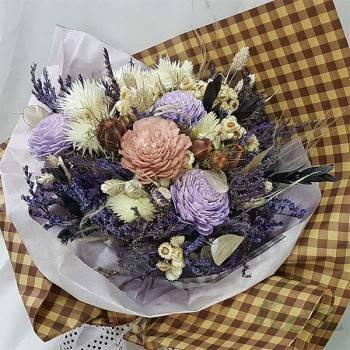 《紫魅》粉彩乾燥花束