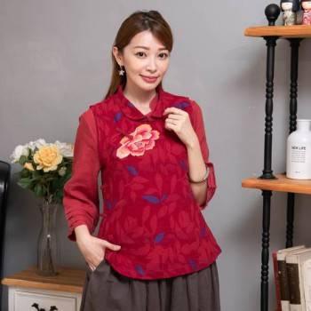 素色繡花背心  BD88059