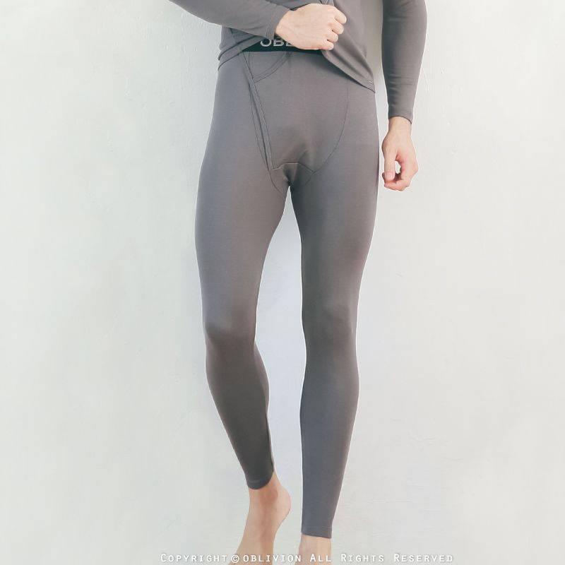 男柔軟刷毛保暖褲