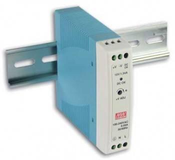 DIN Rail 軌道式電源供應器 20W/DC24V (MDR-20-24)