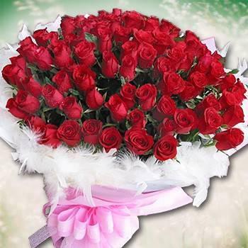 【特價花束】《與你久久》99朵玫瑰花束