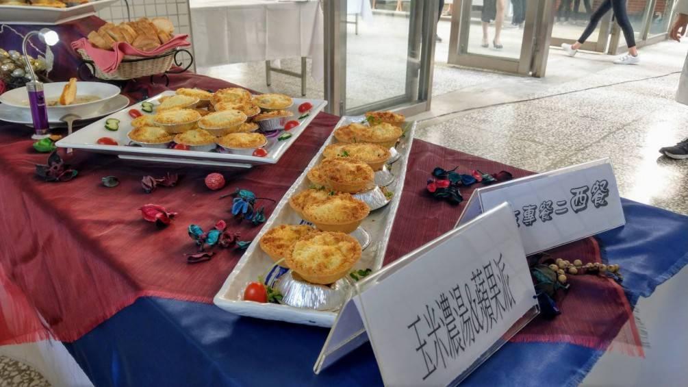 蘭技餐旅系期末學習成果發表  上百位學生大展廚藝