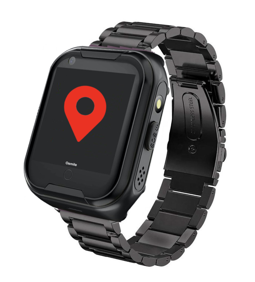 ED1000 全球通老人手機 (失智老人GPS/SOS 求救定位手錶)(金屬黑)