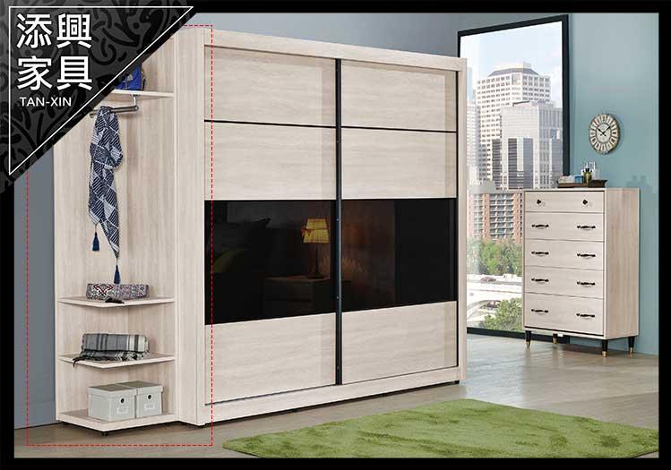 【衣櫃】 【添興家具】 J103-2 柏納德1.5尺開放衣櫃  大台北地區滿5千免運