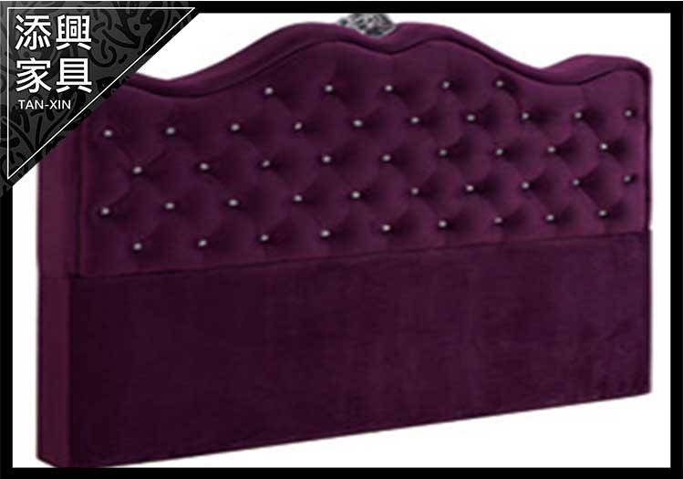【床頭】 【添興家具】 A579-6 尊爵5尺紫色絨布雙人床頭片 (#3301)  大台北地區滿5千免運