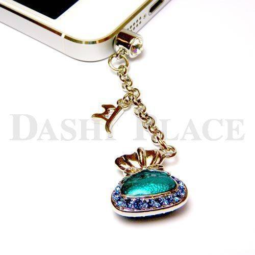 手機吊飾-銀藍-財寶-種子字