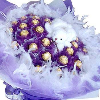《愛你三生三世》3隻小熊30顆金莎花束