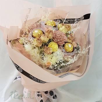 《喜悅》金莎巧克力乾燥花束
