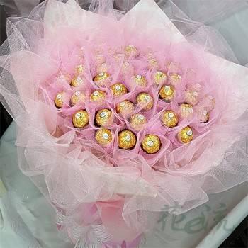 【限時特價】《粉愛浪漫》50朵金莎花束