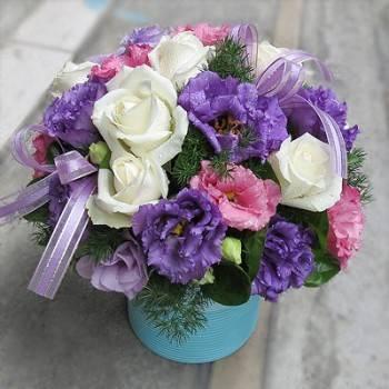 《紫愛悠情》設計師球型桌花