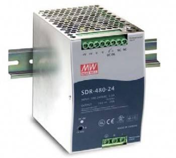 DIN Rail 軌道式電源供應器 480W-DC48V (SDR-480-48)