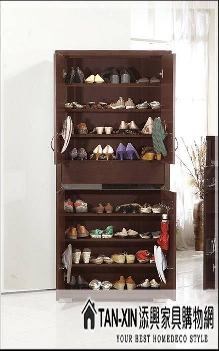 添興家具購物網*** J782-3 恩希胡桃2.6x6 尺高鞋櫃 另售其他尺寸~大台北區滿5千免運