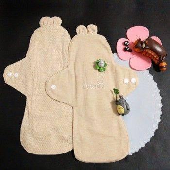小物宅配-L大號28cm Lohogo可愛兔子耳朵布衛生棉/有機環保可洗大流量衛生棉/環保可水洗重覆使用 Lohogo樂活趣