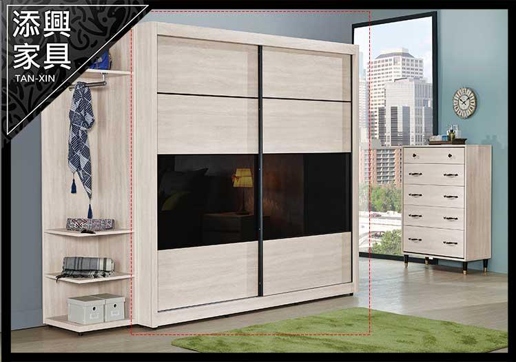 【衣櫃】 【添興家具】 J101-5 曼特寧7x7尺推門衣櫃  大台北地區滿5千免運