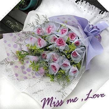 《蜜妮卡思》紫玫瑰花束