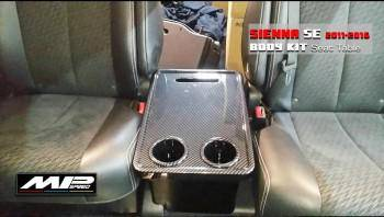 2011-2020 Toyota Sienna Car Back Seat Table & Cup Drink Holders (3D Carbon look)
