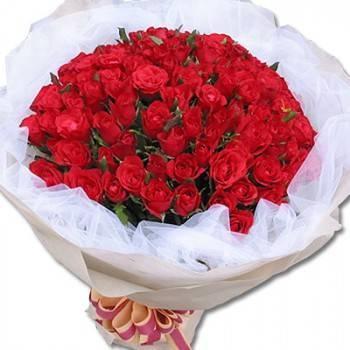 同品質花店最便宜-【永恆的愛】99朵紅玫瑰花束