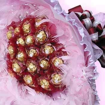 《愛你不渝》33朵甜蜜金莎巧克力花束