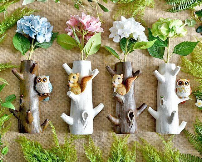 小動物造型木飾牆壁掛勾