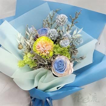 《愛情精靈》亮彩乾燥花束
