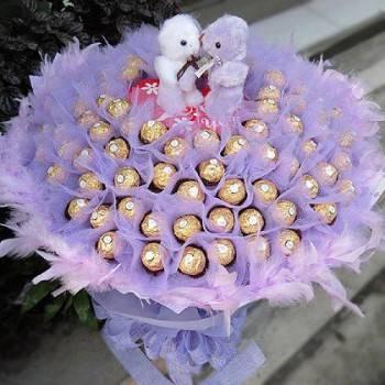 《 My Sweet 》Kiss情侶99朵金莎花束