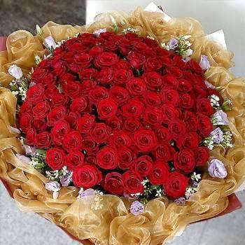 【華麗永恆版】《真愛情懷》99朵玫瑰求婚花束