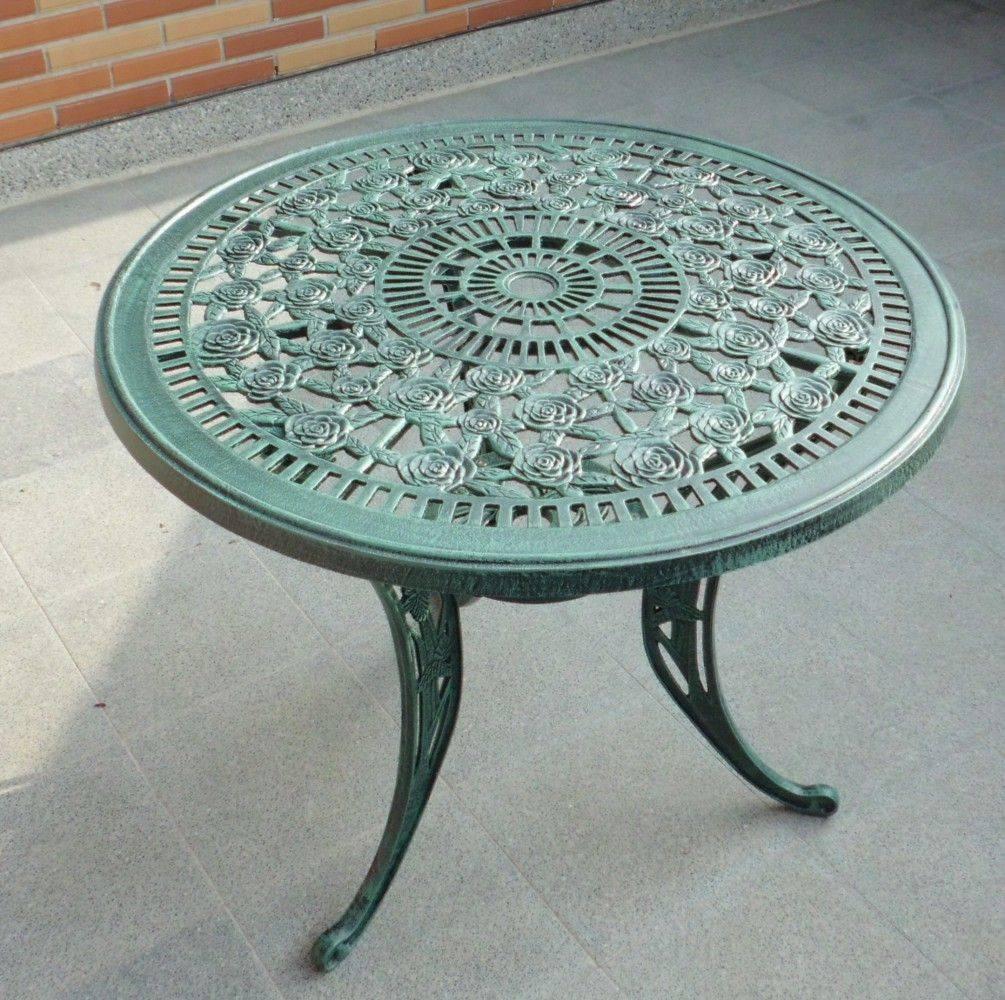 鑄鋁玫瑰桌椅組