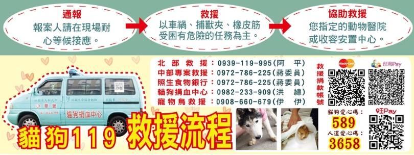 貓狗119 救援流程