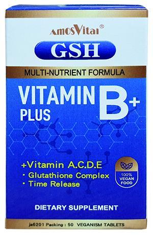 【晶美力】德國 Amos Vital  穀胱甘肽GSH+活力B群+鋅 膜衣錠 (全素可食)