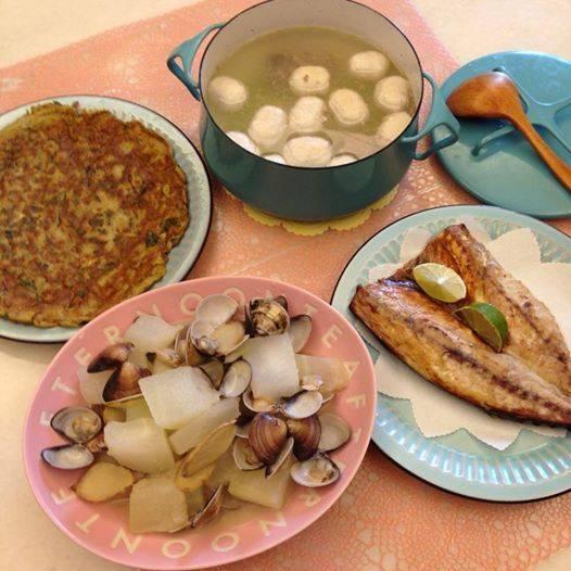 媽媽自己種的菜,吃起來超級安心又幸福^^